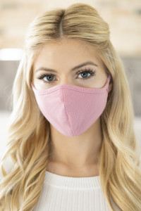 S5-7-3-RFM6001-CT-DRO DARK ROSE PLAIN REUSABLE FACE MASK FOR ADULT/12PCS