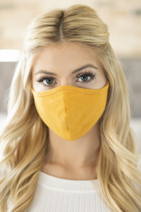 S5-8-1-RFM6001-CT-LMU LIGHT MUSTARD PLAIN REUSABLE FACE MASK FOR ADULT/12PCS