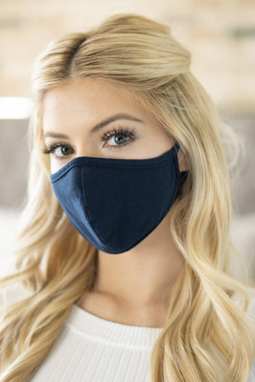 A3-3-3-RFM6001-CT-NV NAVY REUSABLE FACE MASK FOR ADULT/12PCS