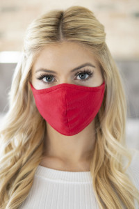 S3-4-3-ARFM6001-CT-RD RED REUSABLE FACE MASK FOR ADULT/12PCS