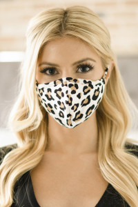 S3-5-1-ARFM6001-RAP021-LEO-IVKH IVORY KHAKI LEOPARD PRINTED REUSABLE FACE MASK FOR ADULT/12PCS