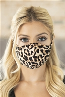 S8-5-2-RFM6001-RAP076-TAUPE- LEOPARD PRINT REUSABLE FACE MASKS FOR ADULTS/12PCS
