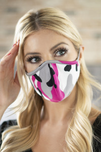 A1-2-1-ARFM6001-RCM010-FU FUCHSIA CAMOUFLAGE REUSABLE FACE MASKS FOR ADULTS/12PCS