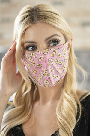 S6-6-1-RFM6001-RFL049-RO ROSE FLORAL REUSABLE FACE MASK FOR ADULTS/12PCS