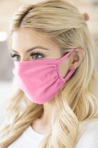 S5-7-3-RFM6002-CT-HPK HOT PINK PLAIN REUSABLE FACE MASK FOR ADULTS/12PCS