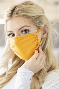 S6-4-3-RFM6002-CT-LMU LIGHT MUSTARD PLAIN REUSABLE FACE MASK FOR ADULTS/12PCS