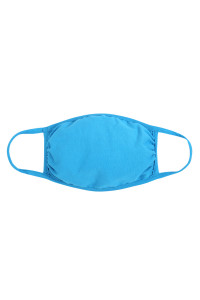 S5-7-2-ARFM6002-CT-TQ TURQUOISE PLAIN REUSABLE FACE MASK FOR ADULTS/12PCS