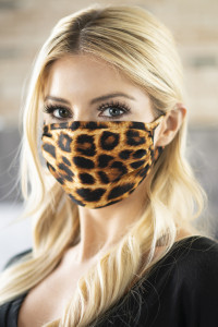S3-4-1-ARFM6002-RAP057-AM AMBER LEOPARD REUSABLE FACE MASK FOR ADULTS/12PCS