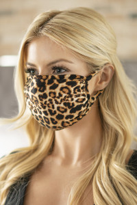 S3-5-2-ARFM6002-RAP061 BROWN LEOPARD PRINTED REUSABLE FACE MASK FOR ADULTS/12PCS