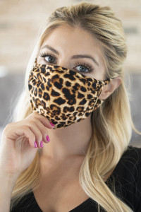 S8-4-2-ARFM6002-RAP061-STONE LEOPARD SKIN PRINT REUSABLE FACE MASKS FOR ADULTS/12PCS