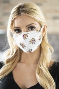 S3-5-2-RFM6002-RFL052-IVORY - FLORAL REUSABLE FACE MASKS FOR ADULTS/12PCS