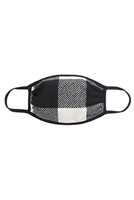 S7-7-1-RFM6002-RPL019-BK-PLAID FACE MASK-BLACK/12PCS