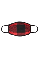 S7-7-1-RFM6002-RPL019-RD-PLAID FACE MASK-RED/12PCS