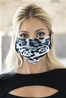 S4-7-4-RFM6005-RAP113-GY-GRAY COMBO BLACK LEOPARD REUSABLE FACE MASK FOR ADULT/12PCS