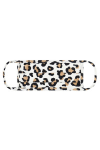 S8-5-1-ARFM6006-RAP021-IVORY ANIMAL SKIN PRINT REUSABLE PLEATED FACE MASK FOR ADULTS/12PCS