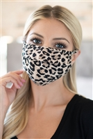 SA3-7-4-RFM6006-RAP041-BLK-BRW- LEOPARD  REUSABLE FACE MASK FOR ADULTS/12PCS