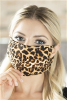 S8-6-1-RFM6006-RAP061-STN-STONE LEOPARD REUSABLE FACE MASK FOR ADULT/12PCS