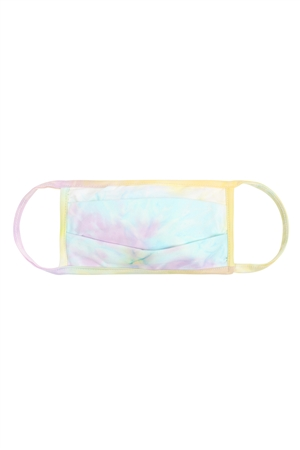 S8-4-1-RFM6006-RTD010-LAVMTBA - LAVENDER MINT BANANA TIE DYE REUSABLE PLEATED FACE MASKS FOR ADULTS /12PCS