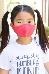 A3-3-2-ARFM7001K-CT-DCO DARK CORAL PLAIN REUSABLE FACE MASK FOR KIDS/12PCS **Size not intended for kids 2 years old and below**