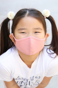 SA4-1-3-ARFM7001K-CT-DPK DUSTY PINK PLAIN REUSABLE FACE MASK FOR KIDS/12PCS **Size not intended for kids 2 years old and below**