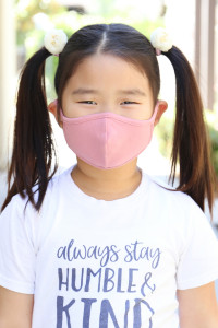 SA4-1-3-ARFM7001K-CT-DRO DARK ROSE PLAIN REUSABLE FACE MASK FOR KIDS/12PCS **Size not intended for kids 2 years old and below**