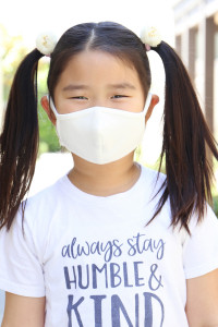 SA4-1-2-ARFM7001K-CT-IV IVORY PLAIN REUSABLE FACE MASK FOR KIDS/12PCS    *Size not intended for kids 2 years old and below *