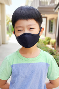 SA4-1-2-ARFM7001K-CT-NV NAVY PLAIN REUSABLE FACE MASK FOR KIDS/12PCS    *Size not intended for kids 2 years old and below *