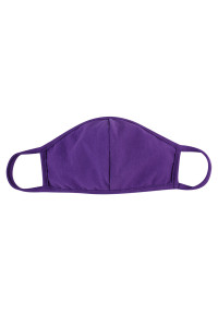 S6-4-3-ARFM7001K-CT-PU PURPLE PLAIN REUSABLE FACE MASK FOR KIDS/12PCS **Size not intended for kids 2 years old and below**