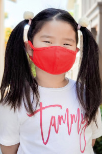 S3-4-1-ARFM7001K-CT-RD RED REUSABLE FACE MASK FOR KIDS/12PCS **Size not intended for kids 2 years old and below**