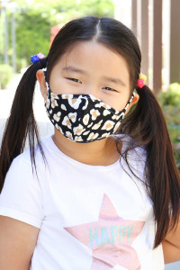 S5-7-2-ARFM7001K-RAP021-LEO-BLACK LEOPARD BLACK PRINTED REUSABLE FACE MASK FOR KIDS/12PCS **Size not intended for kids 2 years old and below**