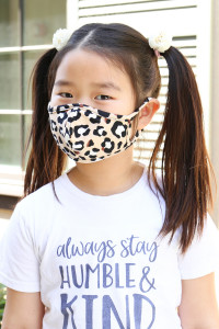 S5-7-1-ARFM7001K-RAP021-LEO-KHAKI KHAKI LEOPARD PRINTED REUSABLE FACE MASK FOR KIDS/12PCS    **Not intended for kids 2 years old and below**