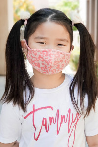 S4-7-2-ARFM7001K-RAP051-CO- CORAL LEOPARD SKIN PRINT REUSABLE FACE MASKS FOR KIDS/12PCS **Size not intended for kids 2 years old and below**