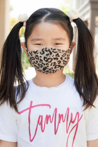 S4-7-2-ARFM7001K-RAP051-TP- TAUPE LEOPARD SKIN PRINT REUSABLE FACE MASKS FOR KIDS/12PCS **Size not intended for kids 2 years old and below**