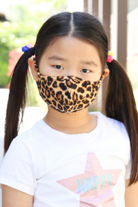 S4-7-2-ARFM7001K-RAP061-STONE- LEOPARD SKIN PRINT REUSABLE FACE MASKS FOR KIDS/12PCS **Size not intended for kids 2 years old and below**