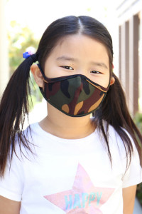 S7-7-2-ARFM7001K-RCM010-BR BROWN CAMOUFLAGE REUSABLE FACE MASKS FOR KIDS/12PCS  **Not intended for kids 2 years old and below **