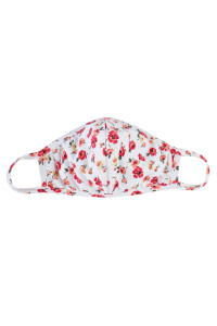 S7-6-1-ARFM7001K-RFL048-IV IVORY FLORAL REUSABLE FACE MASK FOR KIDS/12PCS ** Not intended for kids 2 years old and below**