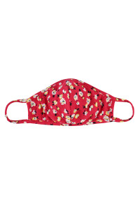 S7-6-1-ARFM7001K-RFL048-RD RED FLORAL REUSABLE FACE MASK FOR KIDS/12PCS ** Not intended for kids 2 years old and below**