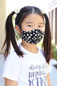 S4-7-1-ARFM7001K-RPR019-BLACK- DALMATIAN PRINTED REUSABLE FACE MASK FOR KIDS/12PCS **Size not intended for kids 2 years old and below**