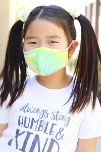 S7-8-3-ARFM7001K-RTD001-BLUE TIE DYE REUSABLE FACE MASK FOR KIDS/12PCS  **Not intended for kids 2 years old and below **