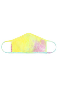 S4-8-3-ARFM7001K-RTD001-MAGYW MAGENTA YELLOW TIE DYE REUSABLE FACE MASK FOR KIDS/12PCS **Size not intended for kids 2 years old and below**