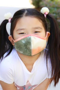 S7-8-3-ARFM7001K-RTD001-OLIVE TIE DYE REUSABLE FACE MASK FOR KIDS/12PCS  **Not intended for kids 2 years old and below **