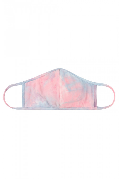 S4-8-2-ARFM7001K-RTD001-PKDNM PINK DENIM TIE DYE REUSABLE FACE MASK FOR KIDS/12PCS **Size not intended for kids 2 years old and below**