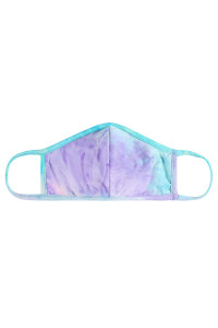 S7-8-3-ARFM7001K-RTD023-PKMNLI PINK MINT LILAC TIE DYE REUSABLE FACE MASK FOR KIDS/12PCS  **Not intended for kids 2 years old and below **