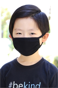 SA4-1-3-ARFM7002K-CT-BK BLACK PLAIN REUSABLE FACE MASK FOR KIDS/12PCS    *Size not intended for kids 2 years old and below *