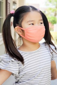 S8-6-2-ARFM7002K-CT-DPE DARK PEACH PLAIN REUSABLE FACE MASK FOR KIDS/12PCS **Size not intended for kids 2 years old and below**