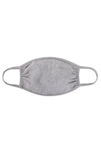 S8-6-2-ARFM7002K-CT-HGREY HEATHER GREY PLAIN REUSABLE FACE MASK FOR KIDS/12PCS **Size not intended for kids 2 years old and below**