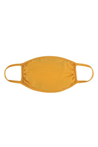 S8-6-2-ARFM7002K-CT-LMU LIGHT MUSTARD PLAIN REUSABLE FACE MASK FOR KIDS/12PCS **Size not intended for kids 2 years old and below**