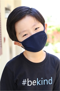 S4-4-2-ARFM7002K-CT-NV NAVY PLAIN REUSABLE FACE MASK FOR KIDS/12PCS    *Size not intended for kids 2 years old and below *