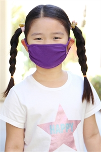 S4-4-2-ARFM7002K-CT-PU PURPLE PLAIN REUSABLE FACE MASK FOR KIDS/12PCS    *Size not intended for kids 2 years old and below *