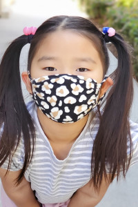 S6-8-3-ARFM7002K-RAP021-LEO-BLACK LEOPARD PRINTED REUSABLE FACE MASK FOR KIDS/12PCS **Size not intended for kids 2 years old and below**